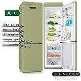 Schneider SL 250SG Kühl-/Gefrierkombination, hellgrün