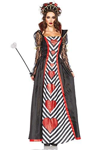 Leg Avenue 85441 - Wonderland Königin-Kostüm, Größe Medium (EUR (Der Herzen Königin Wonderland Alice In Kostüme)