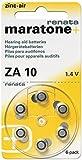Renata zA 10 lot de 60 piles pour appareils auditifs 100 mAh 1,4 v