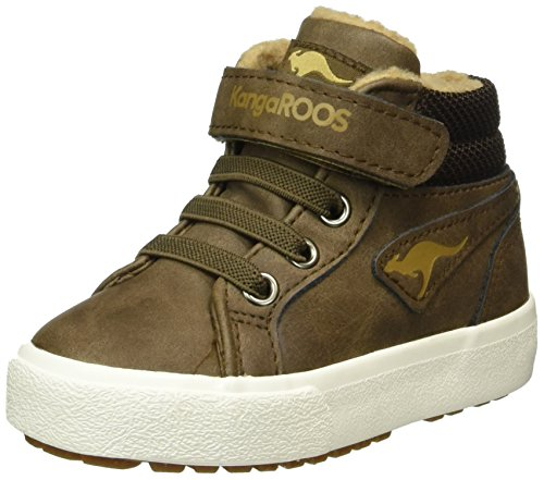 KangaROOS Kavu Iii, Baskets Basses Mixte Enfant Marron (Dk Brown/Sand 343)