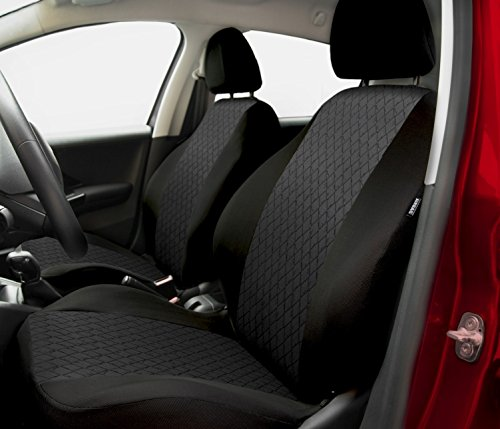 Housse de siège universelle PROFI pour FORD (Escort - Cougar - Fiesta - Focus - Fusion - Ka - Mondeo - Orion - Probe - Puma - Scorpio - Sierra) (Gris)