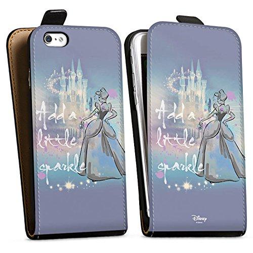 Apple iPhone X Silikon Hülle Case Schutzhülle Disney Cinderella Geschenke Fanartikel Downflip Tasche schwarz
