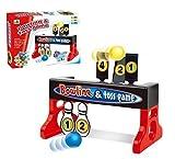 2en1 Mini Bowling & Tirage Au Sort Amusement Familial Lancer & Visant Jeu Jouet
