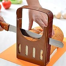 Bluelover Pane Tagliato Pagnotta Pane Tostato Affettatrice Cutter Affettatura Guida Utensile da Cucina