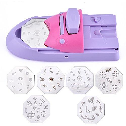 nail art Printer Printing manicure Machine stamp set con 6placche di metallo modello raschietto stampa tabella piastra