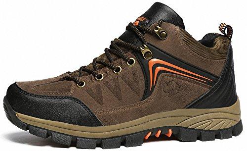 Ben Sports Damen Herren Wanderhalbschuhe Wanderstiefel Traillaufschuhe Walkingschuhe Laufschuhe D-Braun