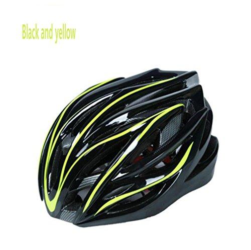 liuzhen Fahrradhelm Mountainbike Helm Integrierter Reithelm Outdoor Sporthelm Langlaufhelm,Yellow