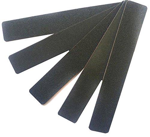 12 pcs Noir Double Face Lime à ongles Limes Émeri mémoires Tampons abrasives fichiers Bloc Polissoir Nail Art Manucure outils