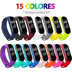 BANGTING 13 PCS Correa Compatible con Pulseras Xiaomi Mi Band 3/4, Correas para Fundas Mi Band 3 Mi Inteligente Band 4… 6