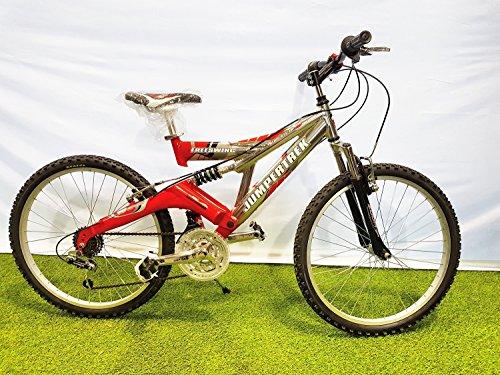 Cinzia Bici Bicicletta 24 Freeswing Full Suspension In Alluminio 18v