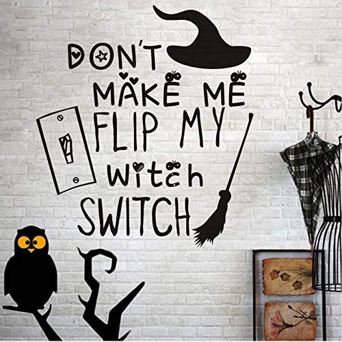 Czxmp Machen Mich Nicht Fli MeineHexe Schalter Halloween Broomstick Wandaufkleber Für Kinderzimmer Hallowmas Festival PartyDekorationWohnkultur 41 * 45 Cm