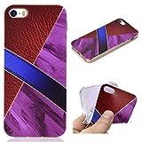 All Do Coque iPhone 5/5S/SE, Modèle de Cuir Marbre Luxe Étui Silicone Souple TPU Housse Ultra Mince, Coque Antichoc Anti-Rayures pour iPhone 5/5S/SE - Vin Rouge