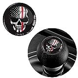 Skino 1x 3d silicona adhesivo del pomo del cambio Diameter 30mm Skull USA Flag Bandera Calavera Coche Tunung JDM K 165