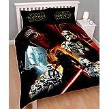 Star Wars Épisode VII Le Réveil de la Force Parure de lit double avec housse de couette et taie ...
