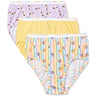 Hanes Girl's 3 Panties, Multicolour (Assorted), Size: 8