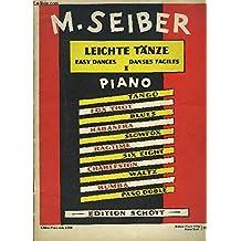 PARTITION / DANSE FACILE PIANO SOLO / tango, blues ...