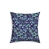 RADANYA Floral Butterfly Digitally Printed Cushion Cover with Filler Purple Satin Bedroom Square Pillow Case 16x16 Inch Amazon Rs. 449.00