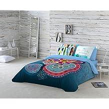 NATURALS Juego De Funda Nórdica Ariana Azul / Multicolor Cama 150 (240 x 220 cm + 2/45 x 90 cm)