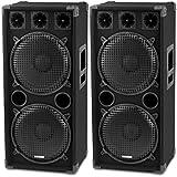 McGrey DJ-2222 Enceintes Party basement / DJ Paire 2 x 1000W