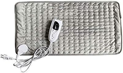 MTT Manta Eléctrica 60X30 Cm Manta Eléctrica De Invierno Manta De Aislamiento Inteligente con Control De Temperatura E Indicador LED para El Cuidado Abdominal del Hombro