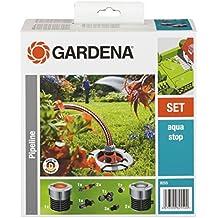 """Gardena 8255-20 Garten Pipeline Starter-Set, Frostsicher, mit Wasserstop, einfache Bedienung, Keine Verschmutzung (Anwendung: Starter Set mit zwei Wasserabgriffspunkten; Gewinde: 3/4"""" Innengewinde)"""