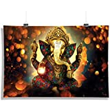 Epic Stuff - Ganesha Painting - Wall Decor - Home & Office Poster Print Art [ Frame Not Included ].