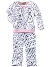 wellyou | Schlafanzug | Pyjama für Mädchen | Pferde-Print | Zweiteiler langarm für Kinder | 95% Baumwolle | Größe 92 - 170