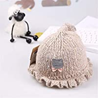 ETMAAA Sombrero de Lana de bebé Moda Bebé Sombrero de Punto cálido, A