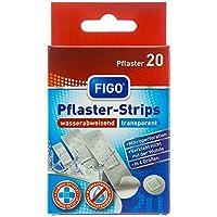 Figo Pflaster-Strips Transparent 4 Größen, 2er Pack (2 x 20 Stück) preisvergleich bei billige-tabletten.eu