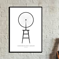 Stampa di un poster con Roue de bicyclette. Marcel Duchamp. Stampa in stile scandinavo.