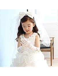RUIXIB Voile Mariée Enfant Voile Mariage pour Enfant Fille Voile Mariée  Déguisement Enfant Voile Enfant Deux 5a5b663de5c