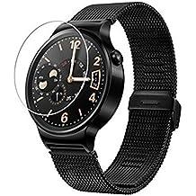 Protector de pantalla Cristal templado para Huawei Watch Calidad HD, Grosor 0,3mm, Bordes redondeados 2,5D, alta resistencia a golpes 9H. No deja burbujas en la colocación (Incluye instrucciones y soporte en Español)