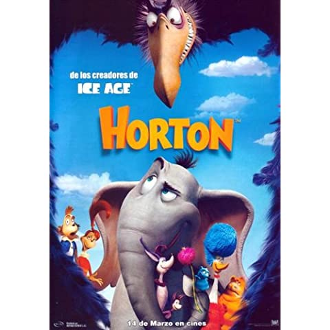 Dr, Seuss' Horton Hears a Who! Cartel de la película española - 69 cm x 102 cm 27 x 40 de Jim Carrey Steve Carell Isla Fisher Dane Cook Jonah