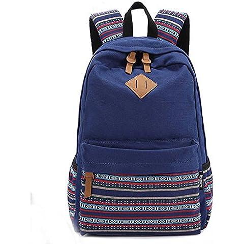 Ushang a strisce in tela Casual, Zaino per scuola, borsa