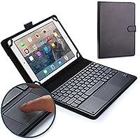 Funda-teclado Samsung Galaxy Tab 4 10.1, COOPER TOUCHPAD EXECUTIVE Funda 2 en 1, cuero teclado, ratón inalámbrico Bluetooth, soporte SM-T530 T531 T535 3G LTE (Negro)