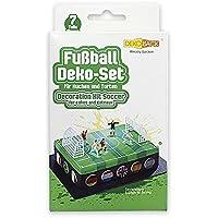 Dekoback Tortendeko DECOCINO HOCHWERTIG | 7-teiliges Fußball Deko-Set von DEKOBACK | mit 5 Figuren und 2 Toren | für Fußballkuchen und Fußballtorten |  wiederverwendbar | Fußballfeld Tortendeko bestellen