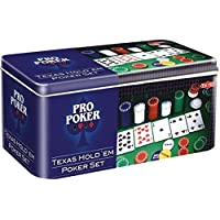 Tactic Games UK Pro Poker Texas Hold'em Set - Tin