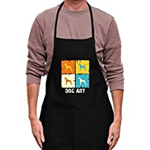 Teeburon Boxer DOG ART POP ART Delantal