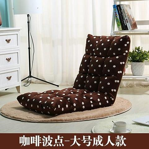 Dngy*persona perezoso sofá tatami, una sola persona se puede plegar el asiento de atrás la ropa de cama en ocio creativo pequeño sofá cama , piso café punto de onda
