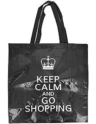 -Cabas Shopping Bag Couses Mode London Queen, schwarz