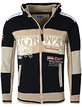 Chaqueta Geographical Norway con capucha Hombres Delgado Fit