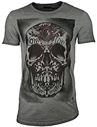 4a93ebbf64b032 Religion Vêtements T-Shirt pour Hommes tribus Tête de Mort