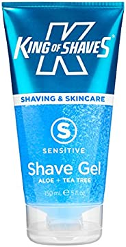 King of Shaves Gel Sensitive Aloe + Tea Tree, 150 ml