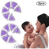 Juan_2 PCS Termopadillas para el Cuidado de los Senos, Gel para el Tratamiento de los Senos Paquete de Hielo Reutilizable 3 en 1 Terapia con frío/Calor Almohadillas de Gel para el amamantamiento