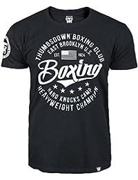 Boxing T-shirt. Thumbs Down Boxing Club. East Brooklyn US. Hard Knocks Camp. Heavyweight Champion. Mixed Martial Arts. MMA T-shirt