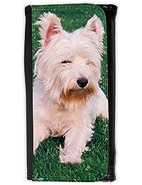 le portefeuille de grands luxe femmes avec beaucoup de compartiments // V00003977 West highland terrier // Large Size Wallet
