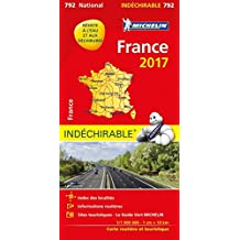 Carte France Indéchirable Michelin 2017