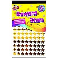 900 x Reward Star Stickers Silver Gold Bronze Home School Teacher Good Work