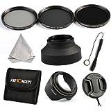 K&F Concept 62mm 3 piezas ND2 ND4 ND8 Filtro Kit de Accessorios de Lente Densidad Neutra Filtro para Sigma Tamron Sony Alpha A57 A77 A65 DSLR Cámaras