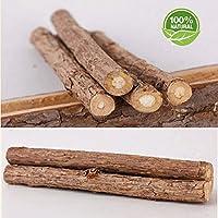 Aitsite 10 Bastoncini in Legno di Erba Gatta Matatabi Gatti In legno di Matatabi per la cura dentale aiutano giocando ad eliminare alitosi e tartaro Diametro 10-15mm